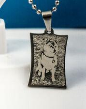 Hund Katze Schmuck Brosche dunlkelblaue Schleife mit Pfoten in silber oder gold