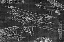 Edward Selkirk: Vintage Aviation III Keilrahmen-Bild Leinwand Flugzeuge Oldtimer