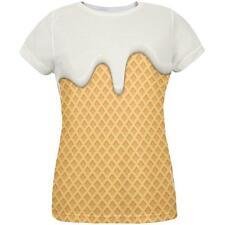 Melting Vanilla Ice Cream Cone All Over Womens T Shirt