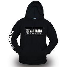 Genuine Yamaha Motorcycle Racing Extreme Biker Motocross SBK Black Hooded Hoodie
