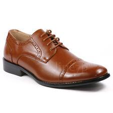 Men's Cap Toe Lace up Oxford Fashion Dress Shoes