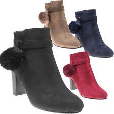 5186 Elegante Damen Stiefel Stiefelette Ankle Boots Lederimitat Reissverschluss.