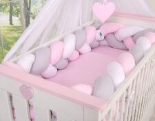 Elegante set di biancheria da letto per bambini per adattarsi Baby Culla/intrecciato, Knot PARAURTI 360 cm XXL