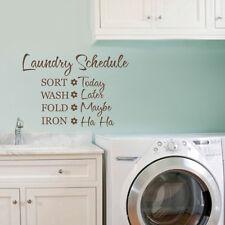 Laundry Room Removable Wall Sticker Quote Inspirational Bathroom Vinyl Art Decor