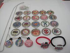 SUPER HEROS party favor necklaces zipper pulls elastic bracelets ponyo birthday