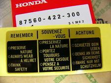Honda CB 650 750  900 GL 1100  CBX  Aufkleber Tank Original