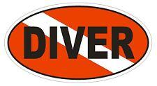 DIVER Oval Bumper Sticker or Helmet Sticker D1835 Euro Oval