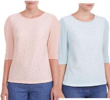 Sugarhill Boutique Lace Summer Blouse Top XS-XL 8-16  Peach / Mint Green Pretty