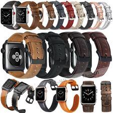 Armband für Apple Watch 38 42 40 44mm Leder Strap Band Uhr iWatch 5 / 4 / 3 2 1