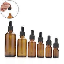 5ml-100ml Braunglas Flüssig Reagenz Pipette Flasche Stroh Aromatherapie
