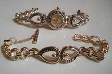Western look Gold finish Heart fashion women's casual/dressy watch or Bracelet
