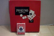 Po-Ke-No Vintage Poker-Keno With Sealed Bicycle Poker Jumbo Index 88 Single Deck
