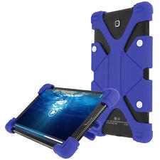Coque tablette 8.9 à 12 pouces Universel Bumper Silicone Gel bleu Mode Support