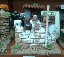 Muratore   mestieri pastore in movimento 7 cm presepe crib Shepherd