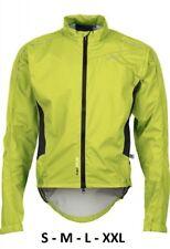 SOLDE -50% Veste de Vélo Raincoat, Hommes Pro x Tirreno Neon Gelb Black,