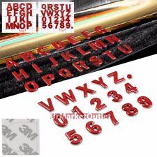 Black/Chrome/Red Unique Letter Text Car Trunk Trim Badge Emblem Decal 3M Sticker