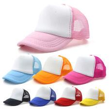 Women Men Unisex Adjustable Solid Mesh Hat Baseball Cap Plain Blank Curved Visor