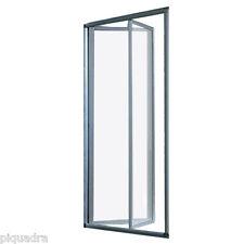 Box doccia cristallo 5mm porta a libro soffietto cabina nicchia misure 68 a 101