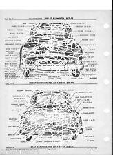 1951 52 Plymouth P22 P23  NOS Exterior Collision Parts Guide 11 X 17 Size
