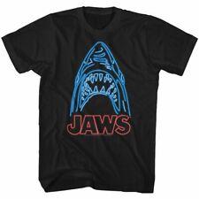 Jaws Neon Black Adult T-Shirt