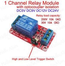 5V 12V 24V 1-Channel H/L Level Relay Module Optocoupler Trigger Relais Arduino