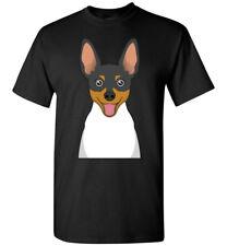 Toy Fox Terrier Dog Cartoon T-Shirt Tee - Men Women Ladies Youth Kids Tank Long