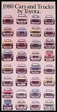 1980 Toyota Car & Truck Brochure Celica, Land Cruiser