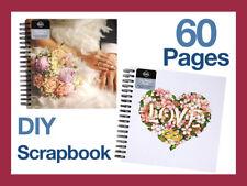 60page Med Vintage DIY Scrapbook Album Wedding Photo Memory Craft Book Hardcover