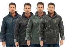 Mens Waterproof Rain Jacket Coat Country Hi-Viz Packaway Storm