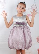 Nouvelle fleur fille party pageant robe en rose, violet foncé en 2-3 3-4 4-5 5-6 ans