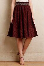 NWT Anthropologie Diamond-Cut Midi Skirt by Maeve, 0, 4, 6 Paper Bag Waist, $148