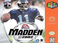 MADDEN 2002 --- NINTENDO 64 N64
