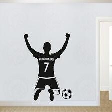 Wandtattoo Fussballer Jubel Wunschname Wunschnummer Kinderzimmer Fußball