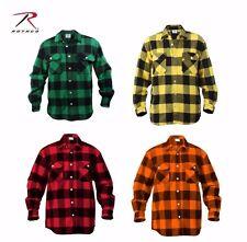Rothco Extra Heavyweight Buffalo Plaid Flannel Shirts 4739, Choose Sizes M - XXL