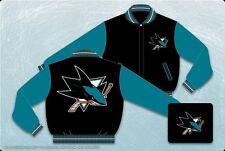 NHL Men's San Jose Sharks Wool Jacket - 2 Tone Reversible