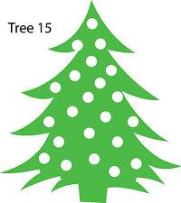 Christmas Tree Retail Shop Window Display Vinyl Sticker Wall Sticker V15