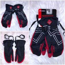 Unisex SKIHANDSCHUHE Winterhandschuhe Snowboard Handschuhe Thinsulate 3M Schwarz