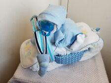 Biker Baby Motorcycle Diaper Cake Baby Shower Centerpiece Gift Set Girl Boy