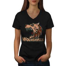 Wolverine Beast Animal Women V-Neck T-shirt NEW | Wellcoda