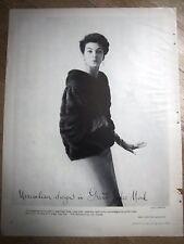 1955 Great Lakes Mink Fur Coat Maximilian Design Ad