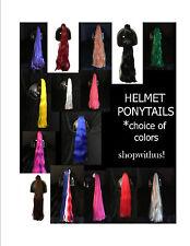 Helmet Ponytails~ Motorcycle Skateboarding ATV Biking Snowmobile Bike~Pony Tail