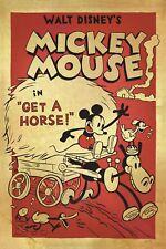 Disney - Mickey Mouse Retro Poster T011  A4 A3 A2 A1 A0 