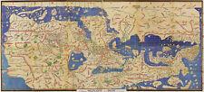 1154 World Map Tabula Rogeriana Muhammad al Idrisi Home Office Wall Art Poster