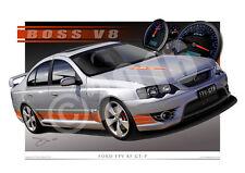 FPV Art Prints 2006 FPV BF GTP Automotive Drawings by Unique Autoart (Unframed)