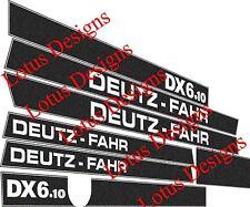 deutz fahr DX6.10 stickers / decals