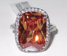 TK2503pb Cuscino Champagne Taglio BOG simulata anello di diamanti brown in acciaio inox