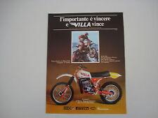 advertising Pubblicità 1978 MOTO VILLA 400 CROSS e FRANCO PICCO