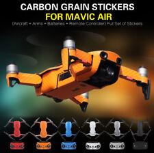 Carbon Fiber Sticker Body+Remote Controller Skin Decals For DJI Mavic AIR Drone