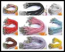 Wholesale 10/20/50/100Pcs Braid Rope Leather Bracelets Many Colors To Choose