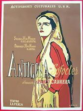 E Alvarez 68 Pablo Cabrera Antigona La Perla Cartel Poster Serigraph Puerto Rico